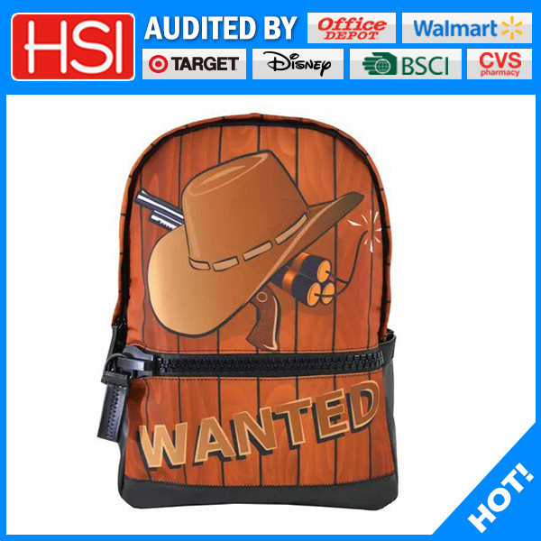 sublimiation printing 3d hat and hand grenade adult school bag