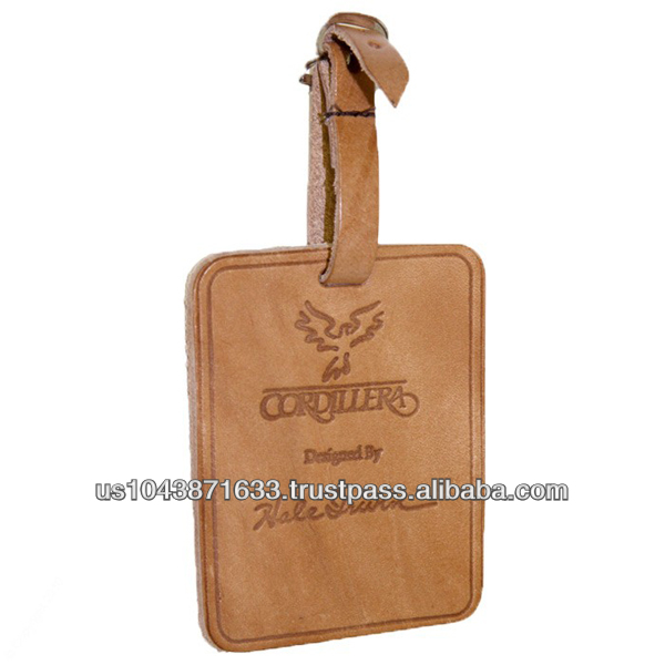 Leather Luggage Tag 4-1/2 x 2-7/8