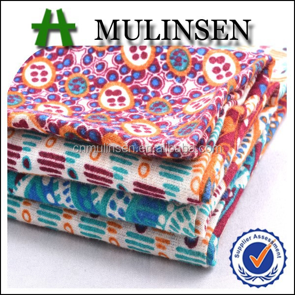 Mulinsen Textile Light Weight 60s Cotton Print Voile Fabric For Making Scarf