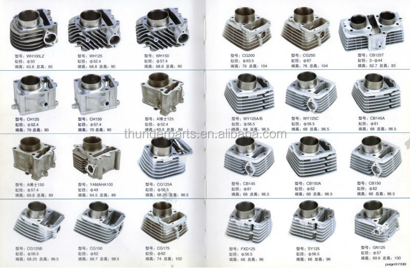 Motorcycle cylinder,Cylinder block,cylinder kit for CG200,CG250,CB125T,WY125A,WY125C,CB145,CB150,FXD125,GN125