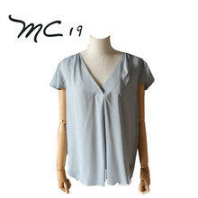 Best Selling Products Top Quality Summer Season 100% polyester Latest Women Casual Blouse Designs