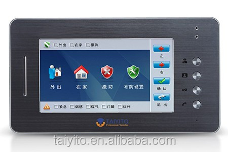 Best selling building Touch screen smart audio voip door phone with zigbee home automation fuction