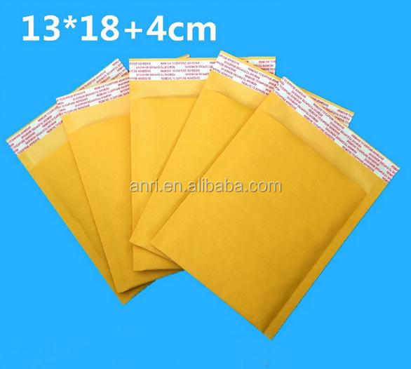 10pcs Wholesale 13*18+4cm New Padded Kraft Bubble Envelope Express Fragile Items Little Gadgets Gift Mailer Mailing Package Bags