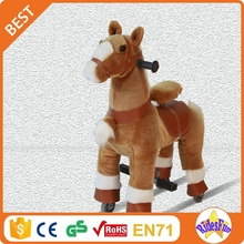 Ridesfun ride on plush rocking duck toy rocking horses for adults baby soft toys for Japanese market