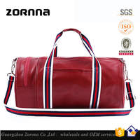 Big capacity wholesale high quality pu leather gym bag from china
