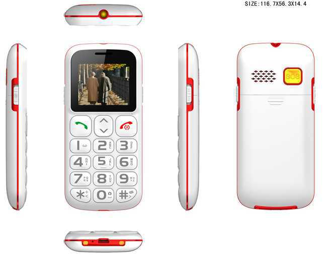 2015 1.77inch big large button cordless cell phones mobail phone for seniors