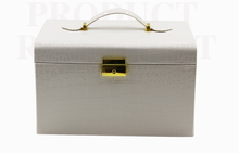 Extraodinary high quality leather jewelry storage case with drawers