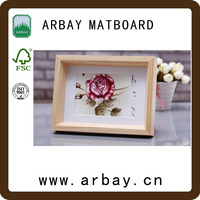 custom size and hot sale wholesale white uncut matboard /picture frame cardboard /digital frame