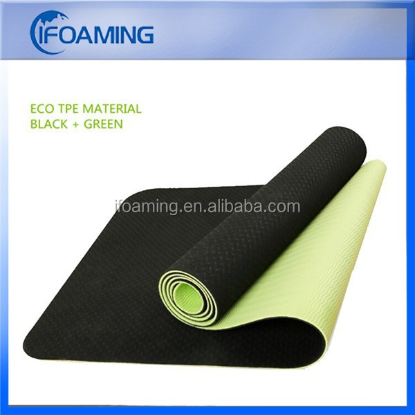 6mm black tpe / eva rubber yoga mat