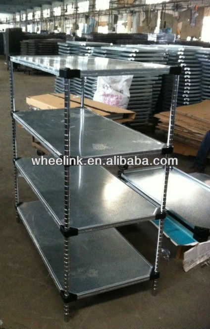 Solid Galvanized Shelving