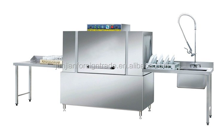 Commercial Stainless Steel Channel Type Dishwasher With Table
