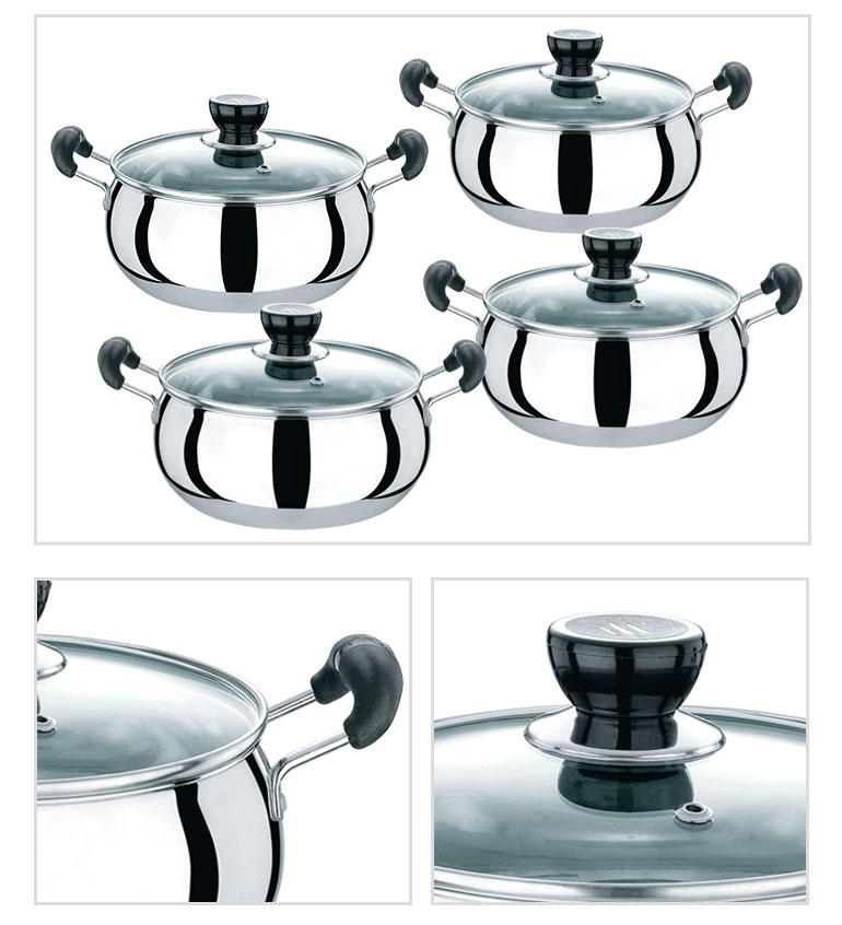 new arrivals cooking steel casserole household stainless cookware set for sale
