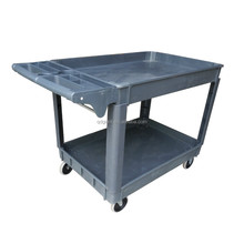 loading 100kg food service trolley / cart with four 4-inch solid wheel