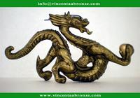 2015 new produced home decoration bronze chinese dragon statue