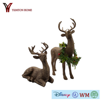 Christmas decorative artificial resin deer for garden or indoor staue