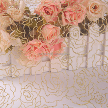 african embroidery lace peach and rose gold fabric tulle