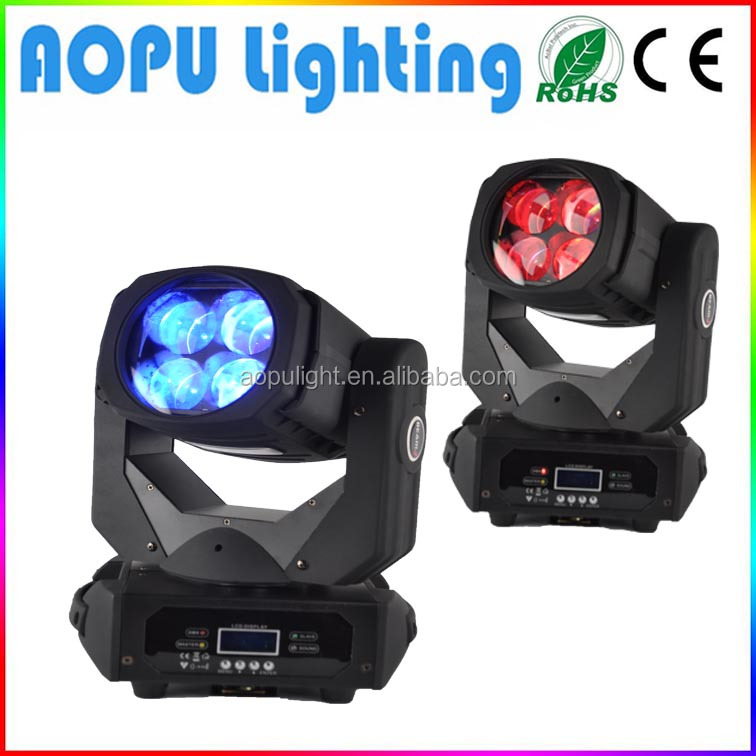 Unlimited rotate super beam light 4x25w rgbw or 100w spot led moving head light