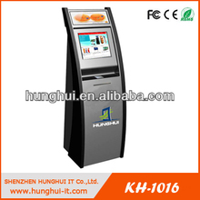 multimedia free standing self service bill payment kiosk with LED sign holder , light box and advertising board