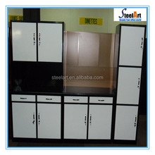 Steel kitchen cabinet with customized kitchen cabinet designs made in China