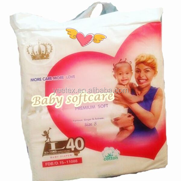 China disposable baby softcare baby diapers with factory price