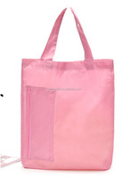 wholesale polyester bag/foldable tote bag with snap closure
