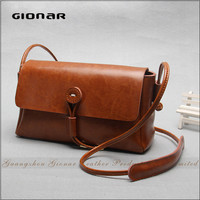 Low MOQ High-end Summer Small Women Genuine Leather Shoulder Bag