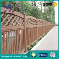 Environmental friendly anti-slip wooden plastic roll fence