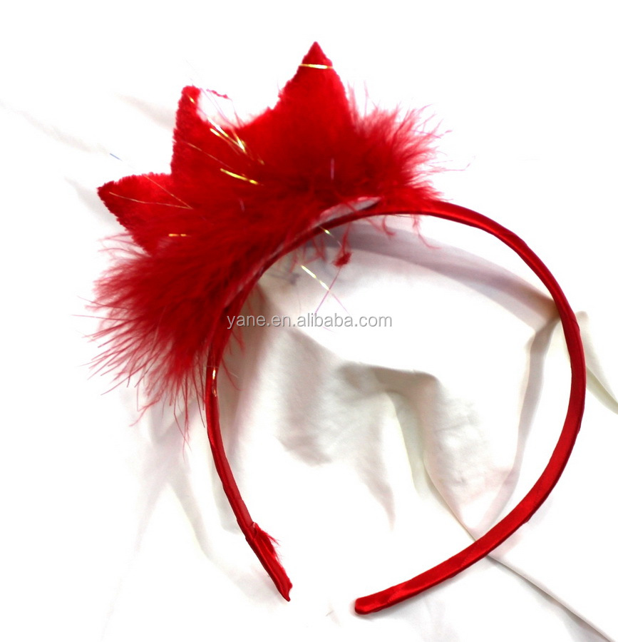 Yiwu homemade bulk cheap red cute headbands with crown for girls
