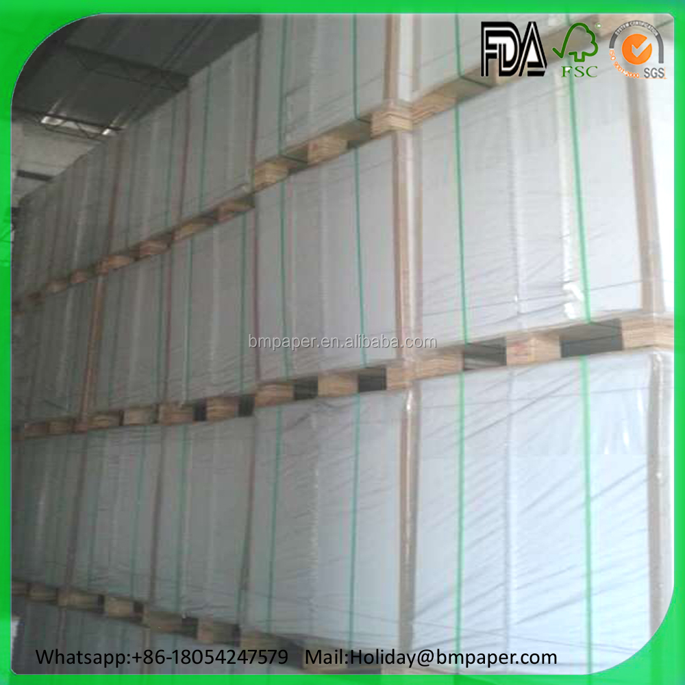 Direct sale 250gsm .300gsm .350 gsm .400gsm one side white coated gray back duplex board