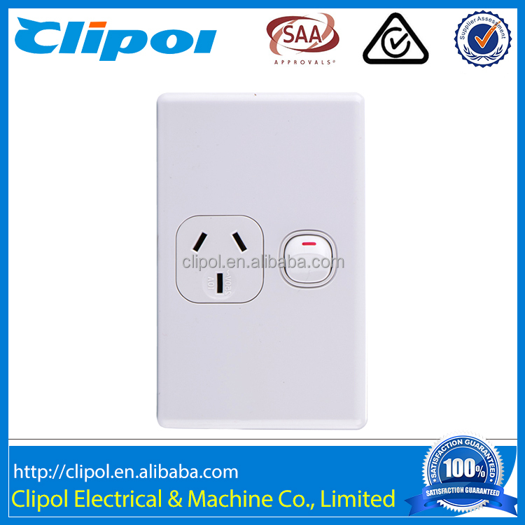 Australia Domestic Vertical Power Outlet Single Electrical Switch Socket