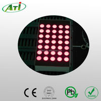 "1.2"" 5*7 round dot 3mm red color dot matrix led display, promotional item with 3 years guarantee"