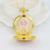 Golden Fashion Anime Janpanese Cosplay Sailor Moon Pocket Watch with Chain Necklace Pendant