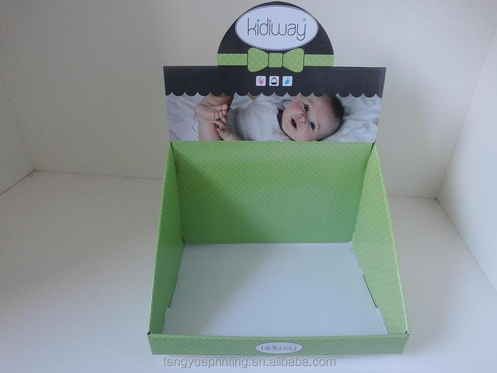 Customized pop paper display box/template cardboard display box/counter display box