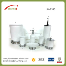New promotion hotel porcelain bathroom accessories set ceramic manufactured in China