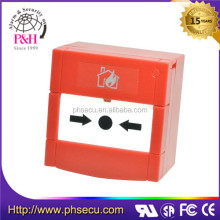 Fire Alarm push button emergency break glass and warning manual call point