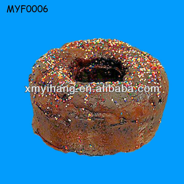 2013 Lovely Brown Resin birthday Artificial Cake
