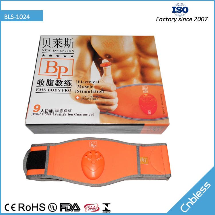 BLS1024 high performance waist slimmer belt with pads