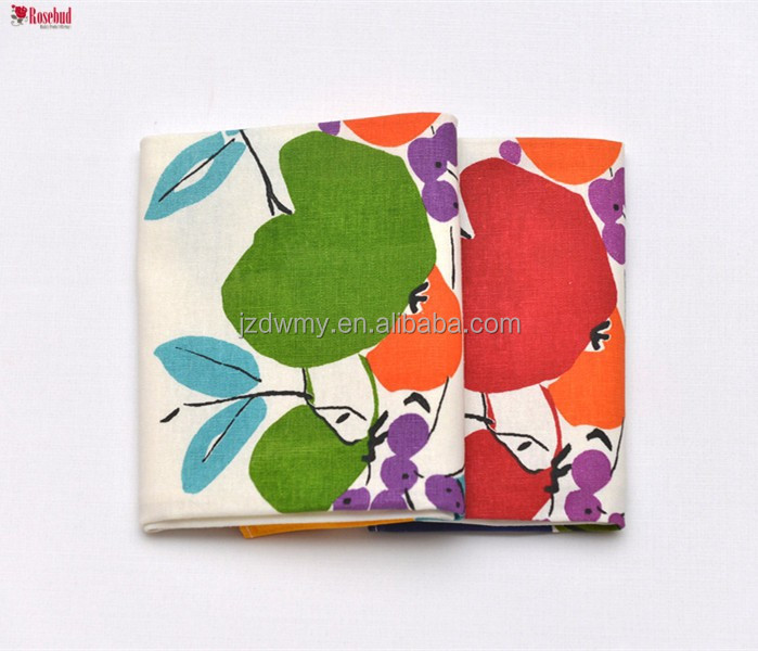 Factory custom wholesale kitchen towels photo fruit printed tea towels