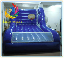 2014 promotion amusement rides exciting game hard-wearing quality inflatable basketball shooting games