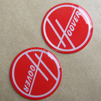 Epoxy sticker with silk screen printing (not digital)