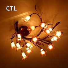 China suppliers led ceiling light fancy artificial flower decoration vintage ceiling lights
