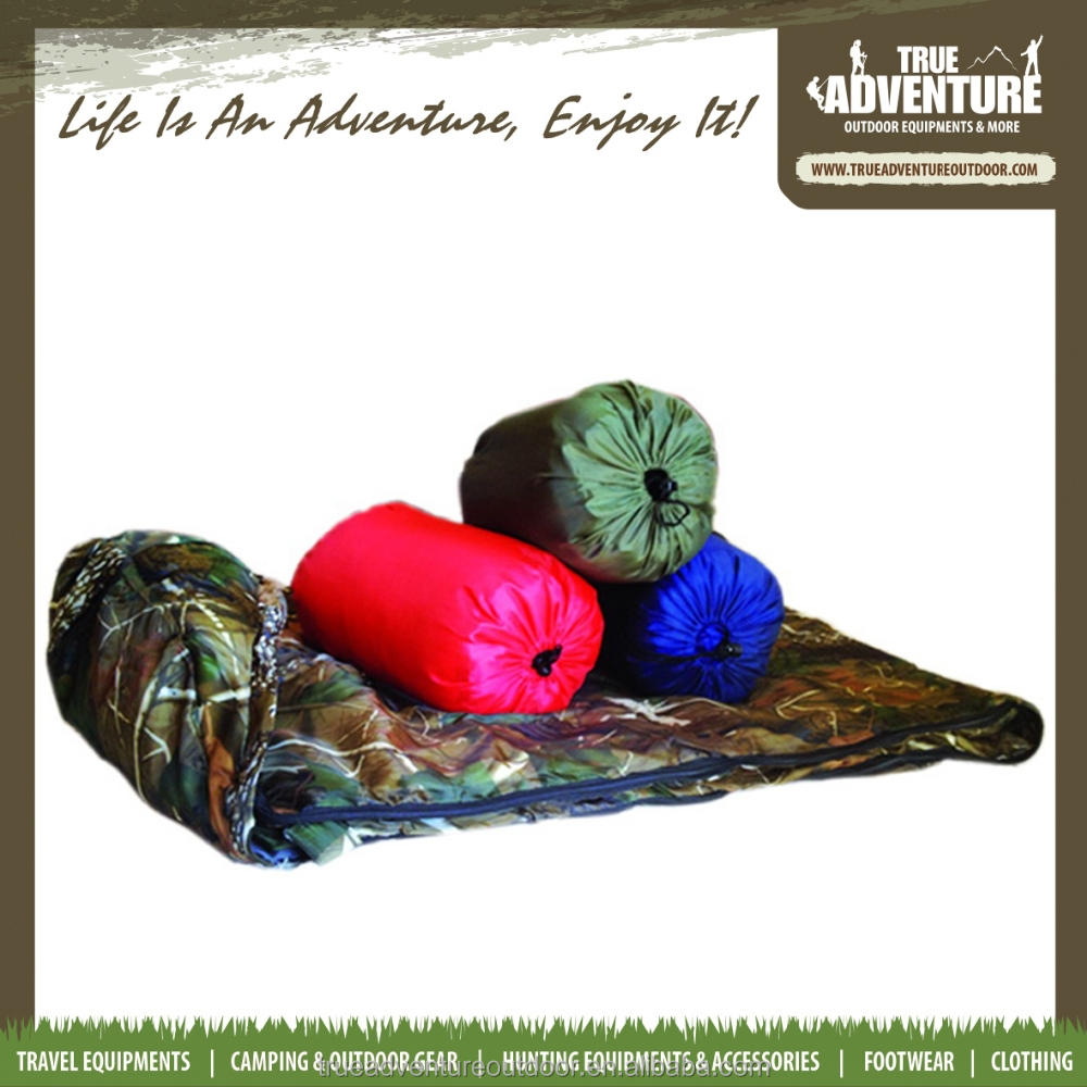 TA7-010 Hotsale Outdotor Hunting Acessory Camo Army Sleeping Bag Feather Military Sleeping Bag