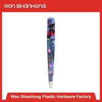 Best price Beautiful in China rubber plastic eyebrow tweezers