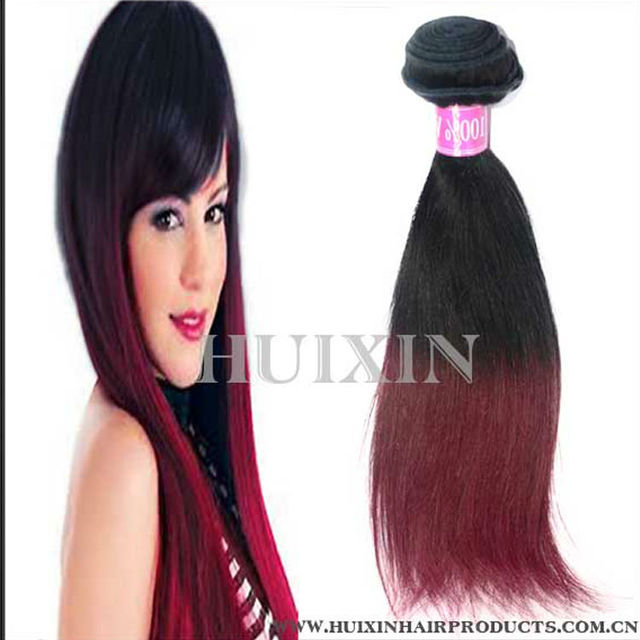 Burgundy wavy Malaysian hair,burgundy highlights on dark brown hair