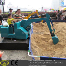 Coating orange Children sandbox digger new design mini amusement excavator for kids