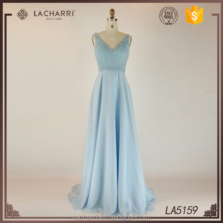 High Quality Bridesmaid Dresses Long v Neck A Line Sweep Train Evening Dress Gowns