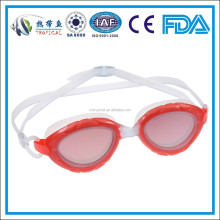 2015 Newest anti-fog silicone one piece swim goggle with perfect uv protection swim goggles