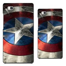 Hard PC Cover For hua-wei P6 P7 P8 P8Lite P9 P9Lite P9Plus Case Cases Phone / Painted With Captain America Spirited Phone