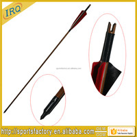 Archery bamboo arrows with 5 inch feather suitable for traditional bow hunting