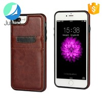 Synthetic Leather Wallet Case, Ultra Slim Professional Executive Snap On Cover with 2 Card Holder Slots for iPhone 7
